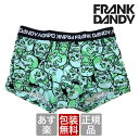 【2枚で送料無料】【レビューで5%OFF】FRANK DANDY/Assorted Skulls Short Boxer (グリーン) フランクダンディー ボクサーパンツ メンズ【正規品】【楽ギフ_包装選択】【あす楽】誕生日 プレゼント ギフト ラッピング 無料