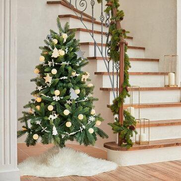 [ポイント10倍! 11/6 0:00-11/10 0:59] クリスマスツリー 150cm 木製オーナメント 天然木オーナメントクリスマスツリー 木製オーナメント オーナメントセット オーナメント コットンボール LEDライト LED ライト 飾り クリスマス ツリー