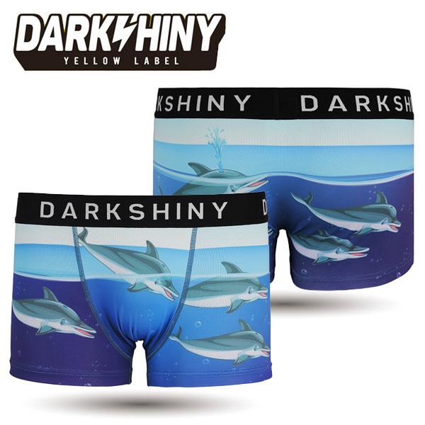 【DARK SHINY】DOLPHINS・イルカ / YLMM56 ダークシャイニー メンズ ボクサーパンツ【取り寄せ】【メール便選択で送料無料】【ハロウィン ギフト】