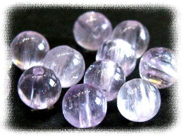 天然石ビーズ クンツァイト6ミリAAA/1粒