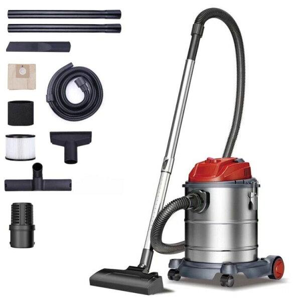 業務用掃除機集塵機超強吸引力乾湿吹く三用集じん機家庭用超吸引軽量防音型乾湿両用大容量15L1000W騒音レベル73.5db(消音