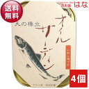 【送料無料】竹中缶詰(罐詰) 天の橋立 オイルサーディン×4...