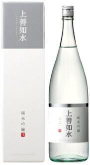 白瀧上善如水純米吟醸1.8L<拜年日本清酒禮物禮物Gift禮品酒酒1升瓶>
