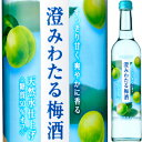 【4/1(火)発売】サントリー 澄みわたる梅酒 500ml【母の日】