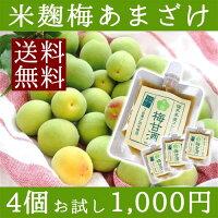 福井県産有機玄米あまざけ100g×4個