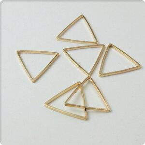 アクセサリー 正三角形 フレーム ゴールドハンドメイド チャーム