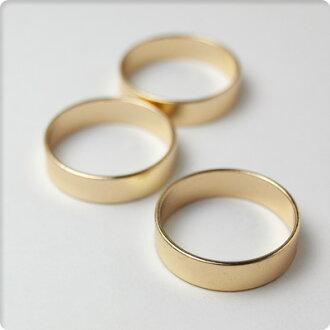 [配飾零件]金屬環20mm深型3個安排黄金手傭人/DIY金屬零件材料素材迷人鐵環[yuu分組對應]