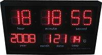 【送料無料】LED時計掛け時計高機能赤色LED