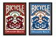 【トランプ】 BICYCLE DRAGON BACK R/B≪バイスクル ドラゴンバック 赤・青≫ 【ネコポス対応可】