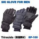 スキーグローブ メンズ スノーグローブ 男性用 防寒グローブ 防寒手袋 シンサレート 保温 sp-100の商品画像