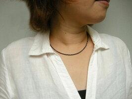 ブラックスピネルネックレス