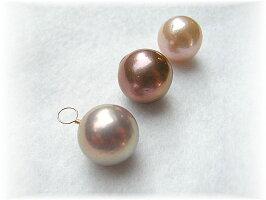 天然色ピンク有核淡水真珠