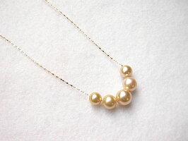 ゴールド白蝶真珠ネックレス
