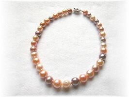 天然色淡水真珠ネックレス