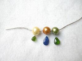 天然石アクセント付デザインパール