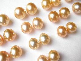 ゴールド白蝶真珠ピアス