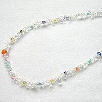 クリスタル(水晶)SVネックレス