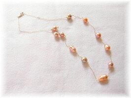 淡水真珠バロックネックレス