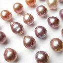 天然色バロック 淡水真珠 無穴ルース(裸石)【K10チャーム加工付 外径4mmワッカ】