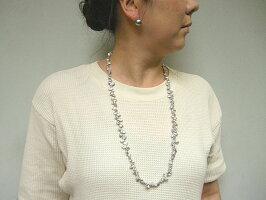 グレーケシ淡水真珠ネックレス