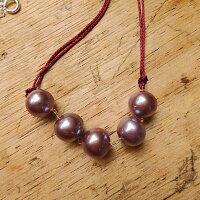 パープル淡水真珠