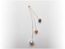 K10ゴールドカーブバー付南洋真珠