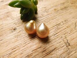 ゴールド白蝶真珠ペアルース