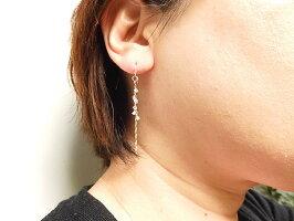 輝く華やかなキラメキッK10ハーキマーダイヤモンドペアチャーム