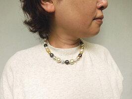 黒蝶真珠白蝶真珠ネックレス