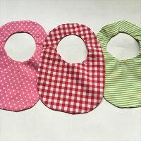 スタイ/かわいい/出産祝い/ハンドメイド/ビスケット手作りのスタイbittenビスケットスタイレッド、ピンク、グリーンです。