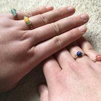 天然石/指輪/リング秀さんのワイヤーストーンリング