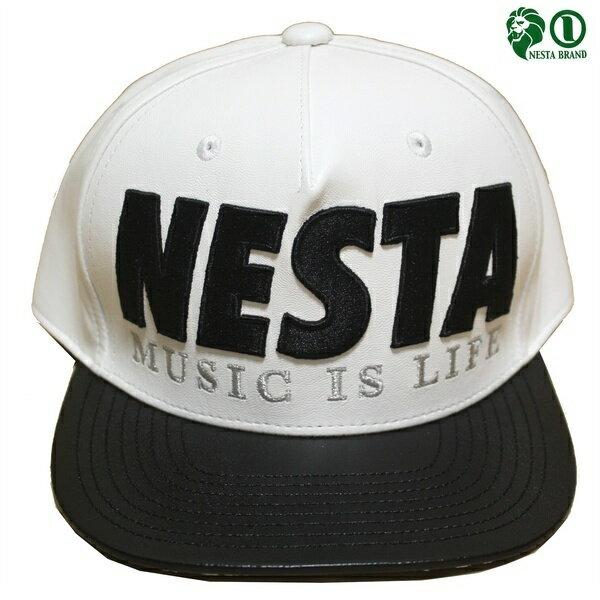NESTAキャップPUレザーキャップ173NB8707WHTホワイト ネスタキャップ/CAP/メンズCAP/ストリート/スケータ