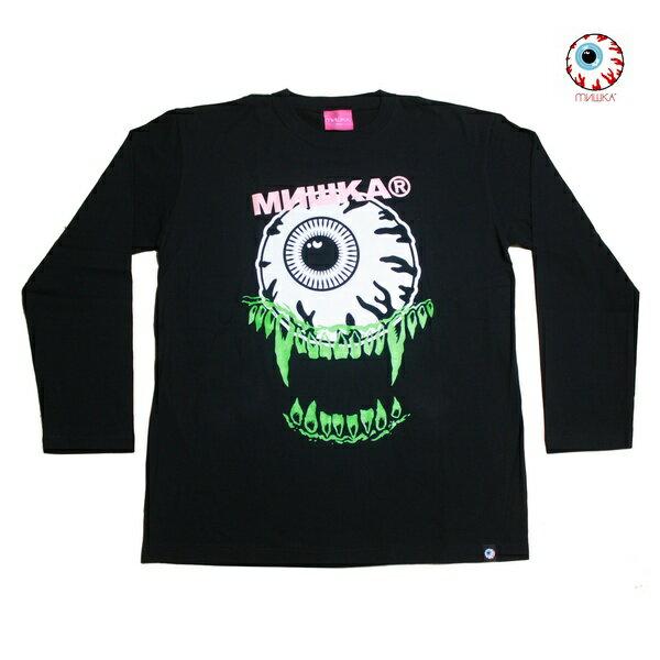 トップス, Tシャツ・カットソー MISHKA T STACKED LS TEE BLK 91549 2020 T T ROCK PUNK HIPHOP