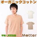 天竺半袖Tシャツ メンズ オーガニックコットン 春/夏 きなり/ブラウン S-LL