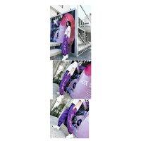 パンツズボン薄手ハイウエストロゴLOGOHIPHOPヒップホップゆるゆったり原宿系ファッション韓国系ダンス衣装ボトムスレディース