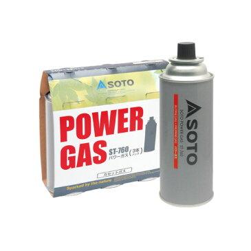 ソト SOTO パワーガス 3本パック ST-7601 [燃料 CB缶]