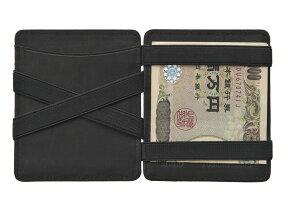 Huntersonマジックウォレット魔法の財布日本紙幣対応ブラック