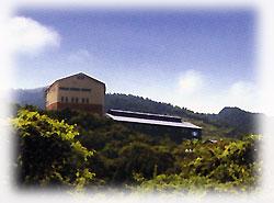 宝山(ほうざん)シリーズ醸造元、西酒造蔵外観