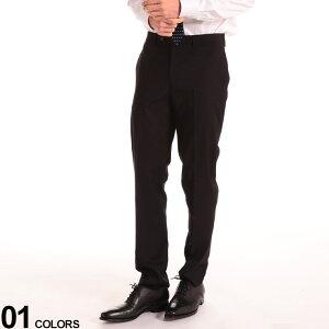 Calvin Klein (カルバン クライン) ストレッチ 無地 ノータック スラックス SLIMFITブランド メンズ 男性 ビジネス ボトムス スラックス ロングパンツ ブラックフォーマル 冠婚葬祭 フォーマル 細身 CKJERRYJ7Y000