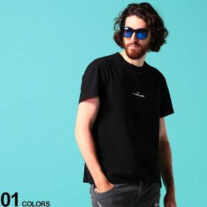 Maison Margiela (メゾン マルジェラ) 綿100% ワンポイントロゴ刺繍 クルーネック 半袖 Tシャツブランド メンズ 男性 トップス Tシャツ 半袖 シャツ クルー 春 夏 刺繍 シンプル コットン MIGC0701S22816