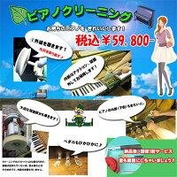 お持ちのピアノをきれいに♪ピアノクリーニング☆しかも調律1回分含む【艶出しピアノ限定】注:リフレッシュとは異なります。