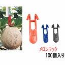 プラスチック フック (メロンフック) PPフック100個入り メロン フック 日本製 オリジナル商品 メロンフック メロン栽培フック メロン吊りフック 吊