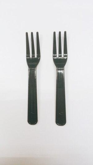 プラスチックフォーク90mm(バラ入)黒色プラスチックフォーク1000本使い捨てフォーク試食用テイクアウト日本製ミニフォーク1本あたり1円黒フォークフォーク黒