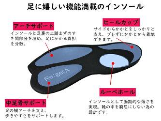 Re:getAリゲッタ【10%OFF】R302ブラックレディース高機能ローファー・ドライビングシューズらくらくどんどん歩ける/歩きやすい/足が痛くならない/蒸れにくい/超撥水【あす楽対応】【送料無料※但し北海道、沖縄を除く】