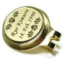 【名入れ ゴルフマーカー】彫刻無料 世界にたったひとつ 磁石でくっつく マーカークリップ プレゼント ...