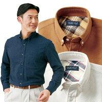 両面起毛/暖かフランネルシャツ/同サイズ3色組