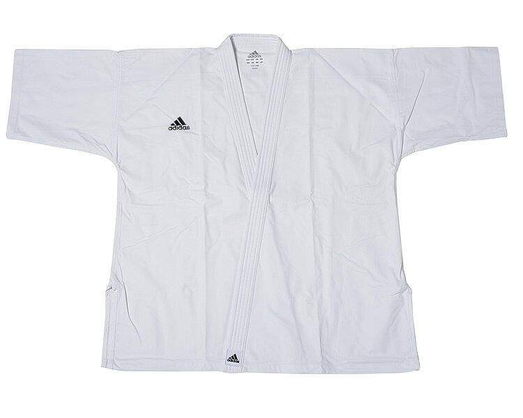 adidas アディダス 純白フルコン空手衣 FK001(6号〜8号) FK001-68 //アディダス 空手着 形組手兼用 道衣 道着 試合 練習 組手