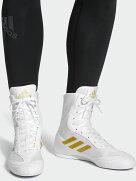 アディダスadidasBoxHog2プラスボクシングシューズ(ホワイト・ゴールド)//アディダスリングシューズシューズジムボクシングフィットネスボクササイズトレーニング送料無料