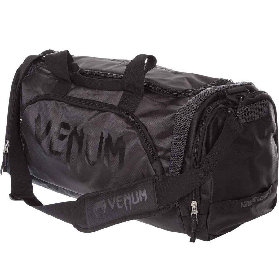 VENUM スポーツバッグ TRAINER LITE SPORTS BAG (ブラック×ブラック) //ボストンバッグ ショルダーバッグ 2WAY 大容量 送料無料 ボクササイズ キックボクシング