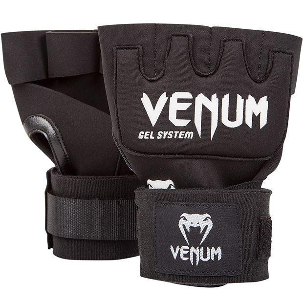 VENUM ナックルグローブ Kontact Gel Glove Wraps (ブラック×ホワイト) //インナーグローブ 簡単バンテージ バンテージ代わり ハンドラップ 送料無料
